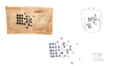 Sketches for Open design studio''s identity