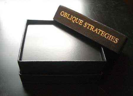 Oblique Strategies box and cards