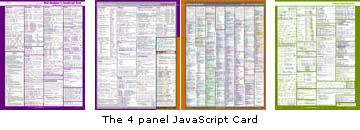 the 4 panel visibone javascript card