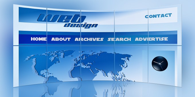 web-page-with-menu