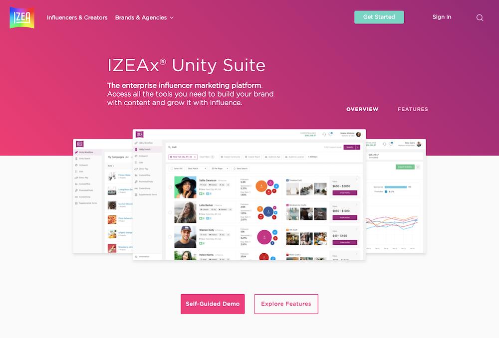 Izea screenshot