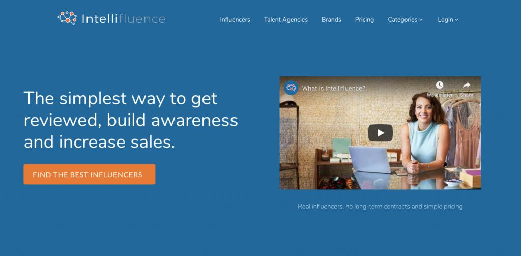 intellifluence-screenshot-of-homepage